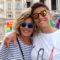 Eva Grimaldi ed Imma Battaglia sorridenti al Pride2017, si conobbero 7 anni fa.