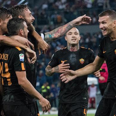Roma-Verona 3-0. Il Ninja sotto il diluvio e Dzeko completa l'opera