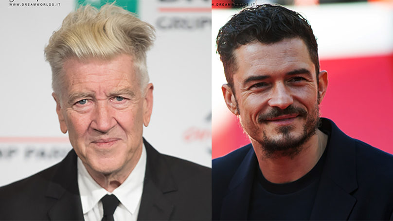 Festa del Cinema di Roma. Le star David Lynch ed Orlando Bloom sul red carpet.