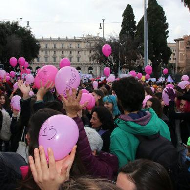 Video. Roma, Flash Mob in ricordo delle vittime del Femminicidio.