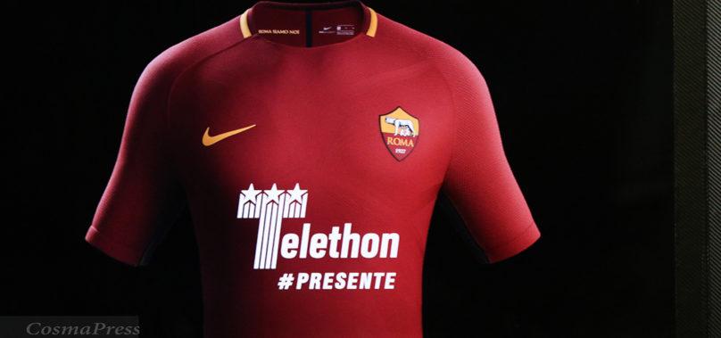 Roma-Cagliari: i giallorossi scenderanno in campo con la maglia Telethon