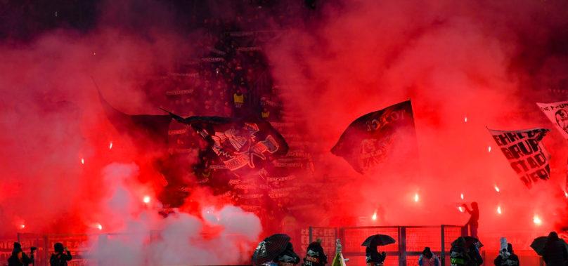 Europa League, Lazio-Eintracht 1-2. Tensioni e 14 fermati. Nessun contatto tra le tifoserie.