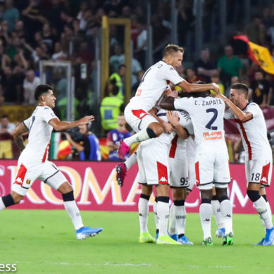 Roma Vs Genoa 3-3, i liguri rimontano tre volte.