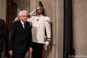 ROME, ITALY - AUGUST 22: il Presidente Sergio Mattarella al termine delle Consultazioni