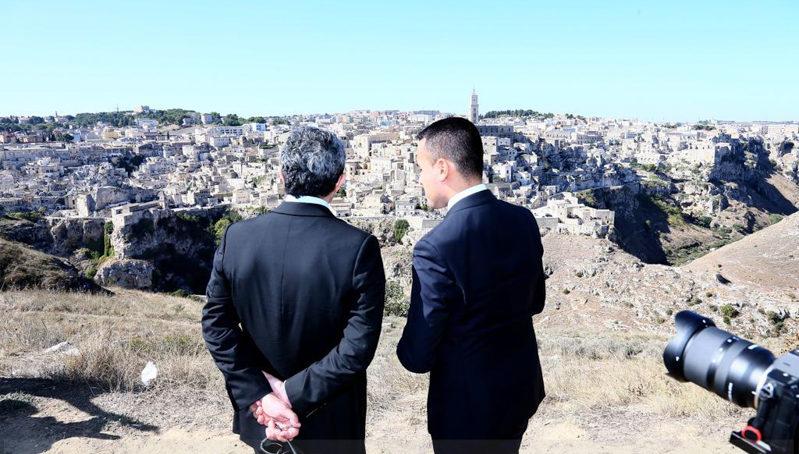"""Luigi Di Maio: """"Matera è una città che con la forza della sua storia guarda al futuro"""""""