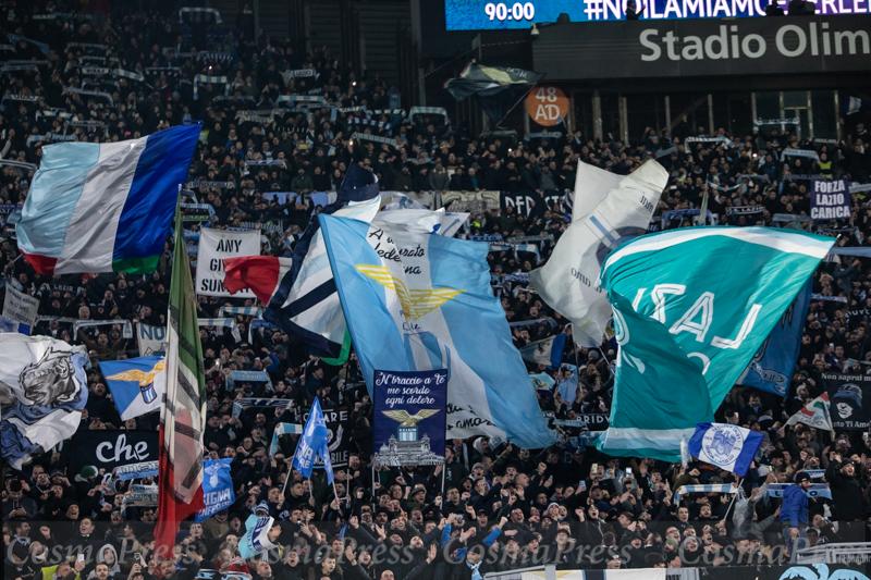 Lazio Vs Napoli in Rome, Italy