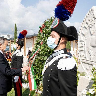 Il Presidente Draghi ad Amatrice per l'anniversario del sisma 2016.